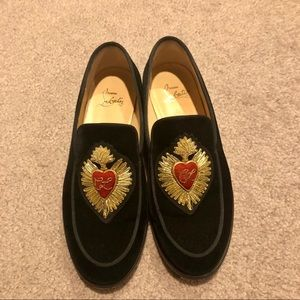 Christian Louboutin Womens Black Flat Shoes